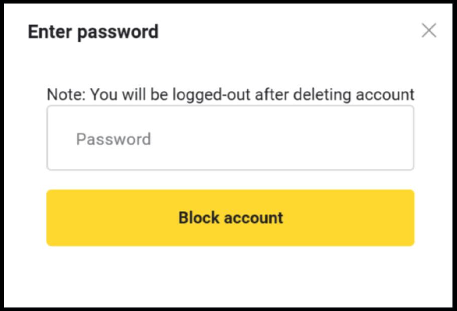 Làm thế nào để đóng và chặn tài khoản Binomo?