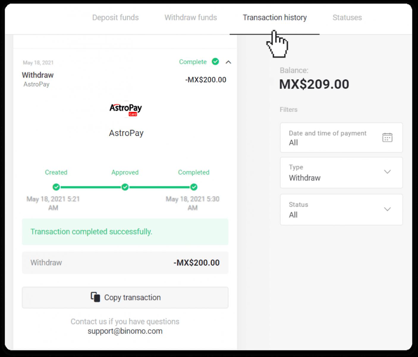 Cách rút tiền từ Binomo về Ví điện tử của tôi (Bukhari Exchange, Skrill, Perfect Money, ADV Cash, PayTM, Globe Pay, AstroPay, Jeton Wallet)